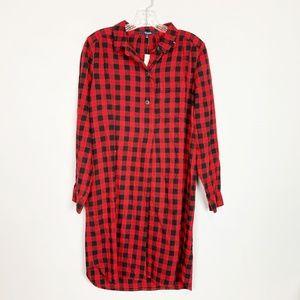 Madewell | NWT buffalo plaid shirt dress medium